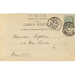 N°111 5c oblitéré Daguin Marseille