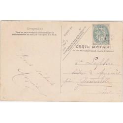 """BLANC N°111 Obl JOUR DE L'AN """"OR"""" sur carte postale TB"""