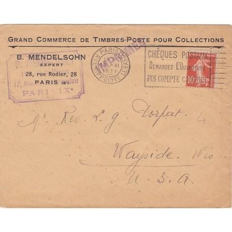 1921 Semeuse 138 SEUL SUR IMPRIME ETRANGER