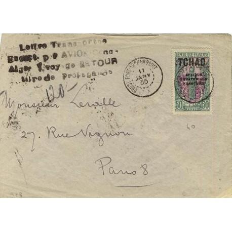 24-1-1935 Fort Archambault TCHAD ligne Alger Congo
