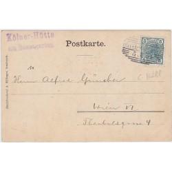 1905 Austria HOTEL CANCEL Postcard from Kôlnerhütte