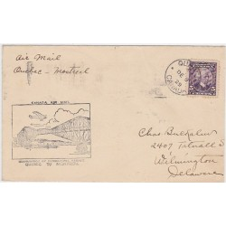 1929 Canada Air mail Quebec Montreal experimental service