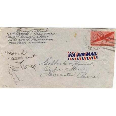 1945 APO 573 LE MANS FRANCE