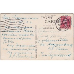 1923 USA stamp cancelled in Switzerland