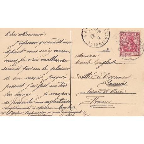Germany Sudamerika 1913 SEEPOST on PC