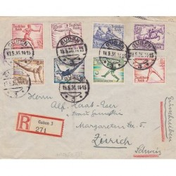 1936 Germany OLYMPIC GAME Registred cover