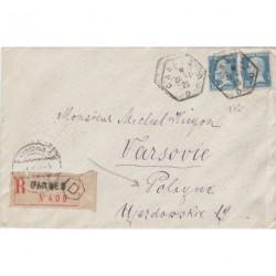 Pasteur Paire du 75c LR POLOGNE