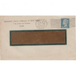 Pasteur 75c PERFORE sur Lettre Etranger