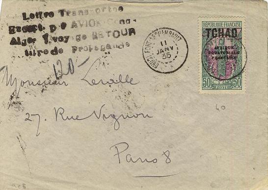 Premier vol Congo Alger
